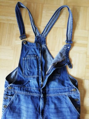 Salopette en jeans bleuet tissu mixte