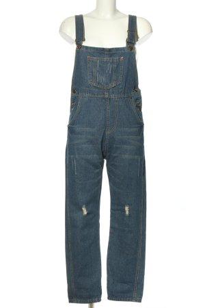 Jeans Salopette en jeans bleu style décontracté
