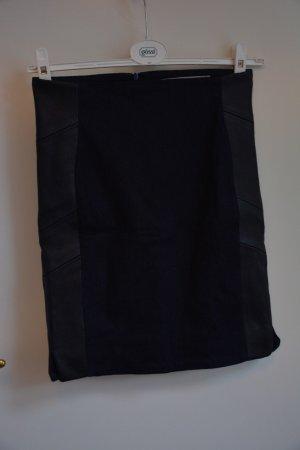 Calvin Klein Jeans Jupe en jeans bleu foncé-noir viscose