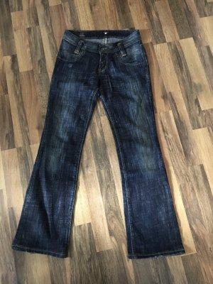 Lee Jeansy o kroju boot cut ciemnoniebieski-niebieski Bawełna