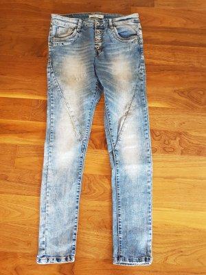 Lexxury Boyfriend jeans azuur