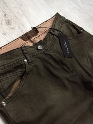 Liebeskind Skinny jeans donkergroen-taupe