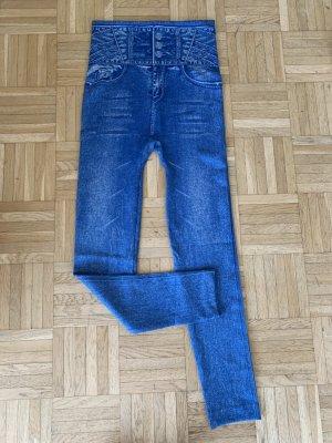 Jeans Look Leggings Hose - Größe S/M 34 36 38 - Blue Blau Used - HoT & SexY!
