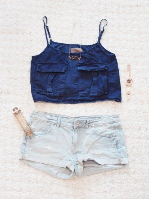 Jeans Lover | Hellblaue Jeans-Shorts im Used-Look
