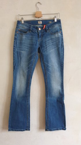 Only Jeansy z prostymi nogawkami niebieski Bawełna