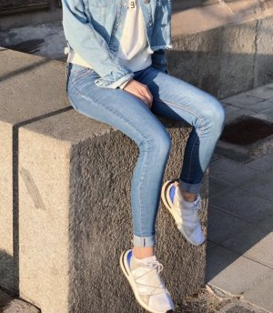 Colloseum Jeans taille basse multicolore