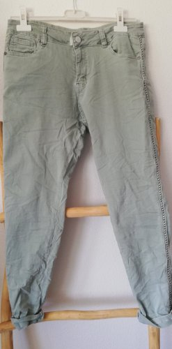 Made in Italy Stretch Trousers sage green