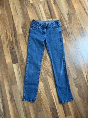 s. Oliver (QS designed) Pantalon taille basse bleu-bleu foncé