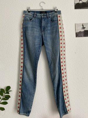 Maison Scotch Jeansy z prostymi nogawkami szary niebieski-błękitny