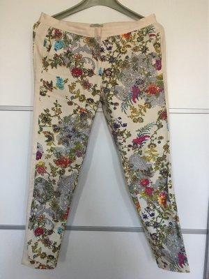Pull & Bear Spodnie khaki kremowy Bawełna