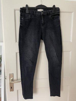 Mango Stretch jeans donkergrijs