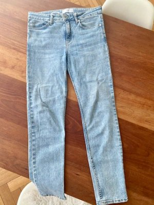 H.E. Mango Jeans a sigaretta azzurro Cotone