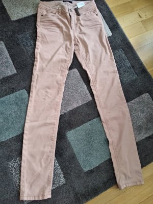 Marc Cain Drainpipe Trousers dusky pink-pink cotton
