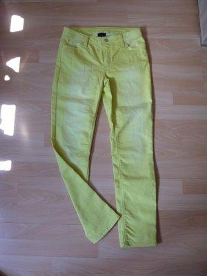 Best Connections Jeans cigarette jaune citron vert tissu mixte