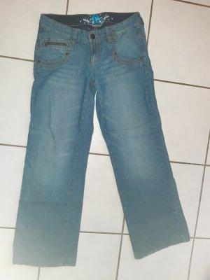 Jeans large multicolore coton