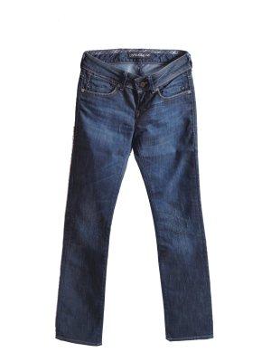 Mavi Jeansy z prostymi nogawkami ciemnoniebieski Bawełna