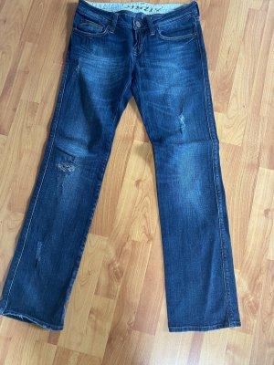 Mavi Jeansy z prostymi nogawkami niebieski