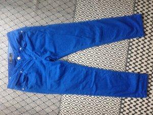 Mavi Pantalón tobillero azul acero Algodón