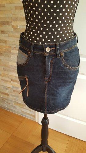 BlendShe Denim Skirt dark blue cotton