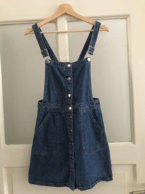 H&M Pinafore Overall Skirt dark blue