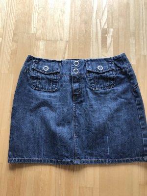 Corleone Denim Skirt steel blue