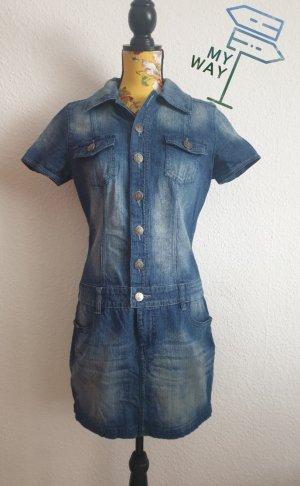 Jeans Minikleid Jeanskleid Denimkleid