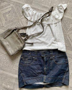 Stefanel Jeansowa spódnica niebieski-stalowy niebieski
