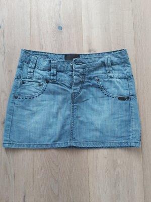 Nümph Jupe en jeans bleu azur