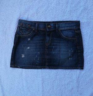 Benetton Jeans Jupe en jeans bleu foncé