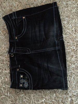 Jeans Minirock mit Glitzer und Pailletten Applikation