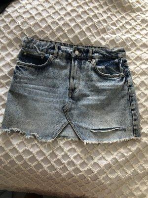 Jeans-Minirock mit Schlitz