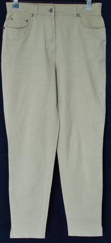 Marco Pecci Hoge taille jeans beige Katoen