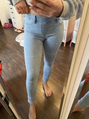 Jeans mit Blümchen Blumen Jeggings