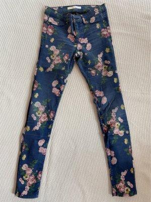 Springfield Jeans a vita alta blu scuro