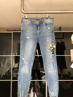 Zara Trafaluc 7/8 Length Jeans multicolored