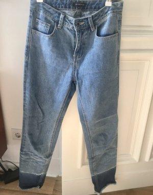 Free People Jeansy z prostymi nogawkami błękitny-niebieski