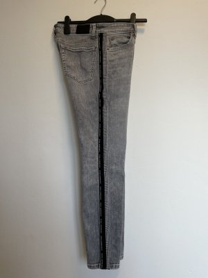 Cambio Jeans 3/4 Length Jeans light grey cotton