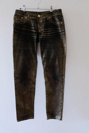 Jeans mit glänzender Beschichtung