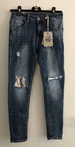 Jeans mit Glitzer Pailletten