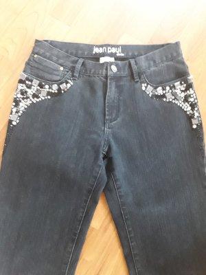Jeans mit Glitzer Steine von jean paul denim, Gr. 36, schwarz