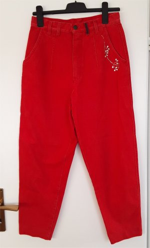 Carrot Jeans red cotton