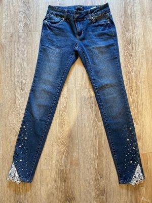 Bodyflirt Jeansy rurki niebieski