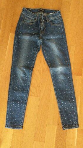jeans mit Glitzersteinen Gr 34