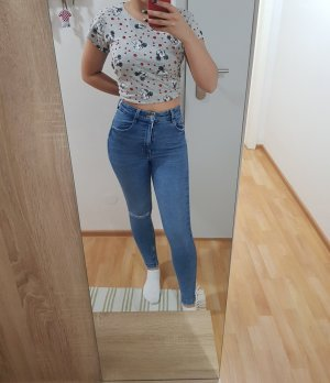 Zara Denim Flares dark blue