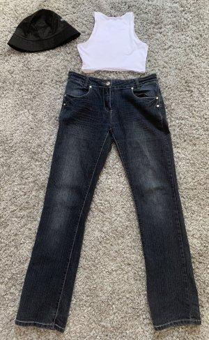NKD Jeans vita bassa blu-blu scuro