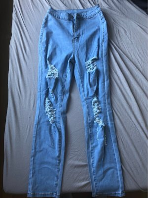 SheIn High Waist Jeans azure