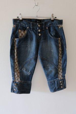 Gucci Pantaloncino di jeans blu-marrone Cotone