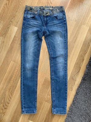 Fishbone Jeans a sigaretta blu-azzurro