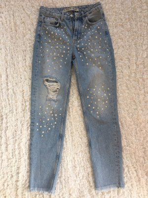 Denim Co. Jeans a vita alta azzurro Cotone