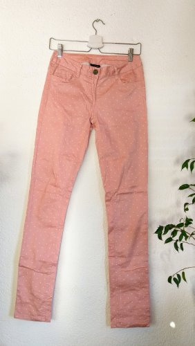 Flame Pantalon cigarette blanc-rose